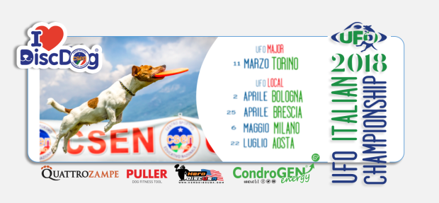 Le tappe della UFO ITALIAN CHAMPIONSHIP (Disc Dog competitions)